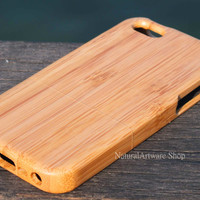Real bamboo / wood iPhone 5C case,wood iPhone 5C case, wood iphone 5C case, wood phone cases, wooden iPhone 5C,  Monogram Gift,Eco-friendly