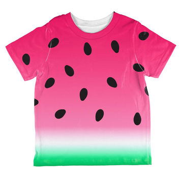 Summer Sun Watermelon Ombre Costume All Over Toddler T Shirt