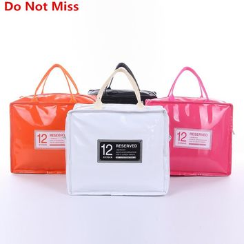 Do Not Miss Thermo Lunch Bags Cooler Insulated Lunch Bags for Women Kids Thermal Bag Lunch Box High capacity Food Picnic Bags