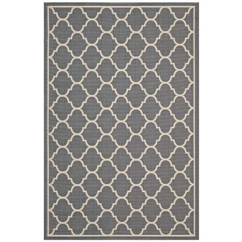 Avena Moroccan Quatrefoil Trellis 8x10 Indoor and Outdoor Area Rug - R-1137B-810