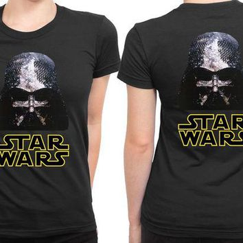 DCCKG72 Star Wars Vader Logo 2 Sided Womens T Shirt