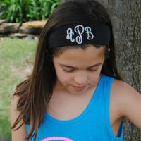 Custom Monogram Vinyl Headband