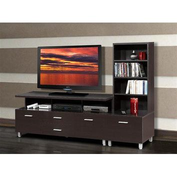 Nexera Element Entertainment Center with Wide Satellite Unit in Espresso | Wayfair