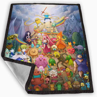Adventure Time Design Blanket for Kids Blanket, Fleece Blanket Cute and Awesome Blanket for your bedding, Blanket fleece **