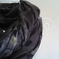 Mottled Scarf, Dappled Scarf, Brown-Black Scarf, Tatty Scarf, Tattered Scarf, Shabby Scarf, Cool Scarf, Infinity Scarf