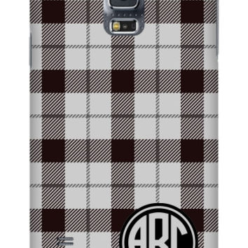 Plaid Monogram Galaxy S5 Slim Case