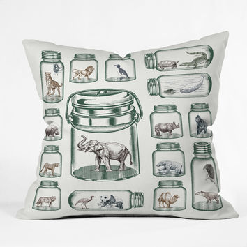 Belle13 Endangered Species Preservation Outdoor Throw Pillow