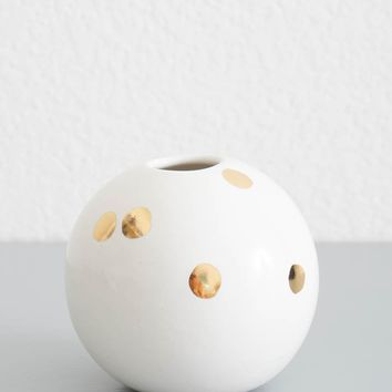 Gold Dot Bud Vase