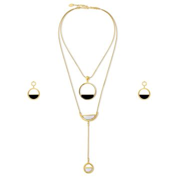 Gold-Tone Open Circle Necklace and Earrings SetBe the first to write a reviewSKU# vs516-02