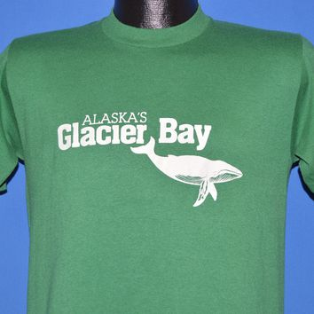 80s Alaska's Glacier Bay Tourist t-shirt Small