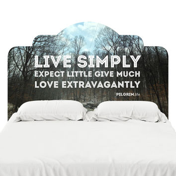 Live Simply Headboard Decal