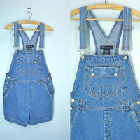 80s Overalls . Overall Shorts . Denim Shorts . Suspender Jeans . Womens Size M/L