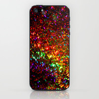 Fascination in gold-photograph of colorful lights iPhone & iPod Skin by Sylvia Cook Photography | Society6
