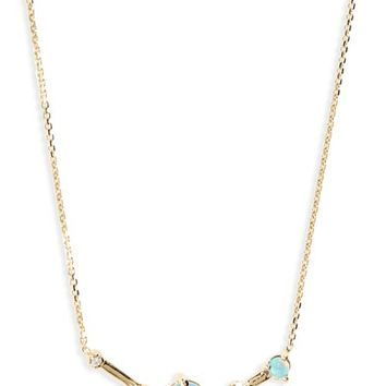 WWAKE Organic Triangle Opal & Diamond Necklace | Nordstrom