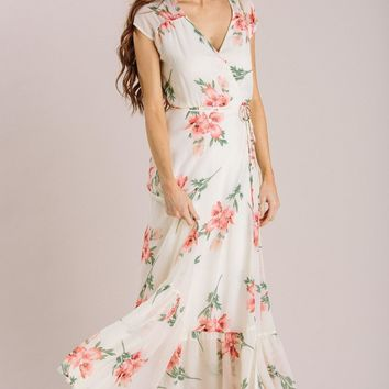 Isabelle Floral Wrap Maxi Dress