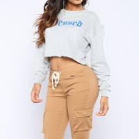 Beyond Blessed Tops - Grey/Blue