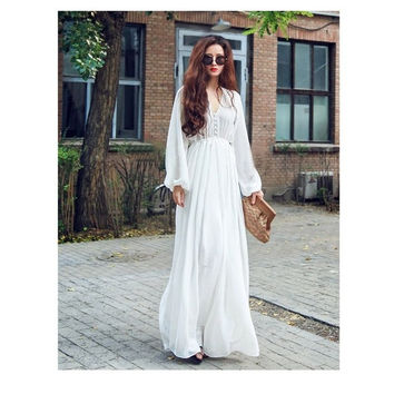 Fashion Womens Long Sleeve Sexy Dress Floral Maxi Dress Ladies Summer Beach Party Dress Sundress UK