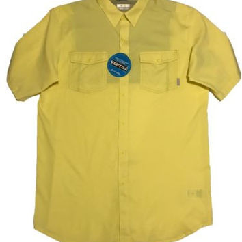 Men's Columbia Vented Omni Short Sleeve Button Up Shirt - Size LT