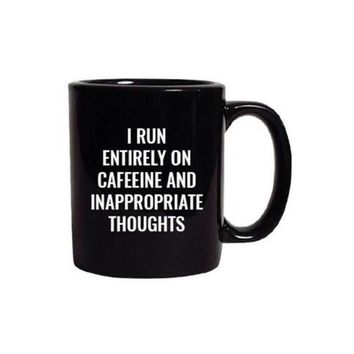 inappropriate thoughts. mug