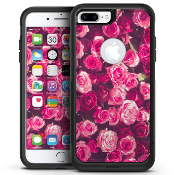 Vibrant Pink Vintage Rose Field - iPhone 7 or 7 Plus Commuter Case Skin Kit