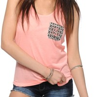 Empyre Micah Anchor Pocket Lace Back Tank Top