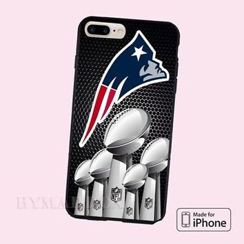 New England Patriots NFL logo Hard Plastic CASE Cover iPhone 6s/6s+/7/7+/8/8+