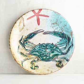 Cruiser the Crab Melamine Salad Plate
