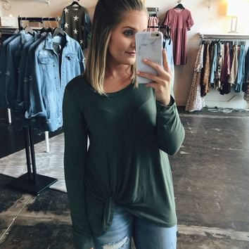 Forever Faithful Top - Olive