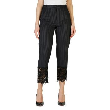 Pinko Pinstripes & Lace Cropped Trousers