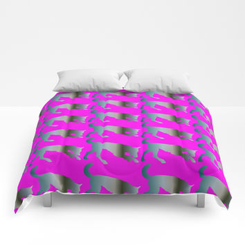 Wolf pattern Comforters by Knm Designs