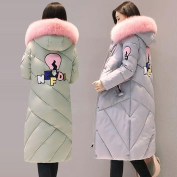 2017 New Winter Collection Women Coat Jacket Warm Female Overcoat High Quality Quilting Cotton Coat Clothing Cute Pattern MY0008