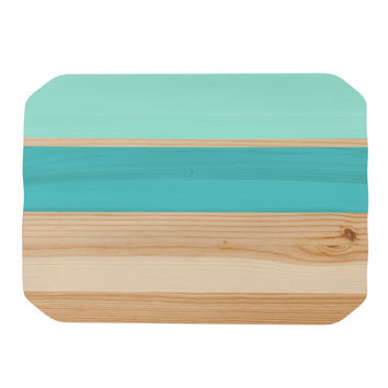 "KESS Original ""Spring Swatch - Blue Green"" Teal Wood Place Mat"