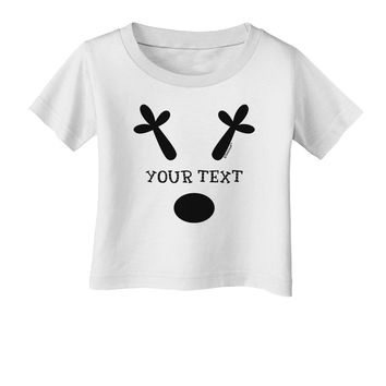 Personalized Matching Reindeer Family Design - Your Text Infant T-Shirt