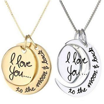 I Love You To the Moon and Back Love Necklace