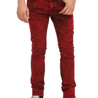 RUDE Red Cloud Wash Skinny Jeans | Hot Topic