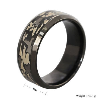 Mstyle 316L Stainless Steel Superman Finger Rings Men's titanium Camouflage steel Ring ooring ta0028 = 1945916164