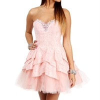 Annaca-Blush Pink Prom Dress