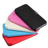 Etou 5 Pack Slim Magnetic Folio PU Leather Hard Case Cover Pouch For iPhone 5 5G