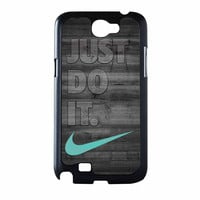 Nike Mint Just Do It Wooden Gray Samsung Galaxy Note 2 Case