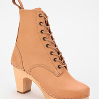 Swedish Hasbeens Heeled Lace-Up Boot
