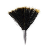 Large Gamsbart Brush Hat Pin 5.5""
