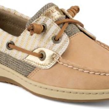 Sperry Top-Sider Bluefish Mariner Stripe 2-Eye Boat Shoe Cognac, Size 8W  Women's Shoes
