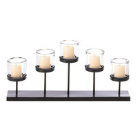 5 Cups Staggered Candle Holder Centerpiece