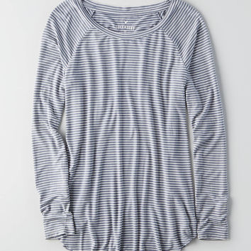 AEO Soft & Sexy Raglan T-Shirt, Raisin Red