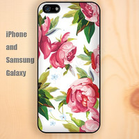 Begonia flower iphone 6 6 plus iPhone 5 5S 5C case Samsung S3,S4,S5 case Ipod Silicone plastic Phone cover Waterproof