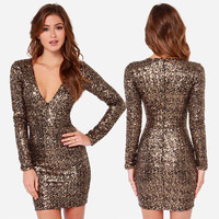 fashion metal sequin dress BB1028BD