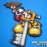 Kingdom Hearts Sora Perler Bead Sprite Decoration