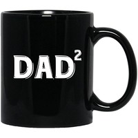 Dad Square-Funny Cute Gifts For Grandfather-Happy Fathers Day- Black Mug