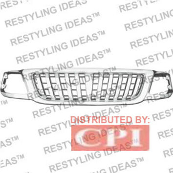 Ford 1999-2002 Ford Expedition Chrome Rascal (Vertical Bar) Abs Grille Performance