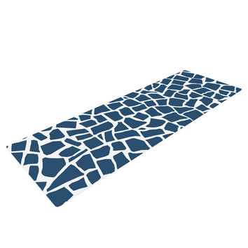 "Project M ""British Mosaic Navy"" Yoga Mat"